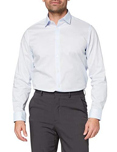 FIND Amazon-Marke: find. Herren Business Hemd, Blau (Sky Blue), 37 cm, Label: XS