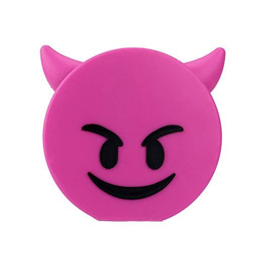 CoverKingz Emoji Powerbank 2600mAh externes tragbares USB Ladegerät für Handys und andere Geräte mit USB Anschluss, Teufel pink