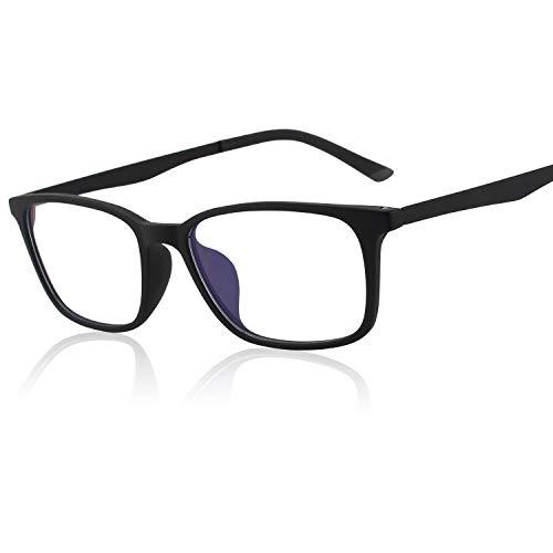 GQUEEN TR90 Occhiali Fashion Filtro Luce Computer, Anti Bagliore Contro l'Affaticamento degli Occhi con Cornice Lenti Trasparenti Matte, GQ61
