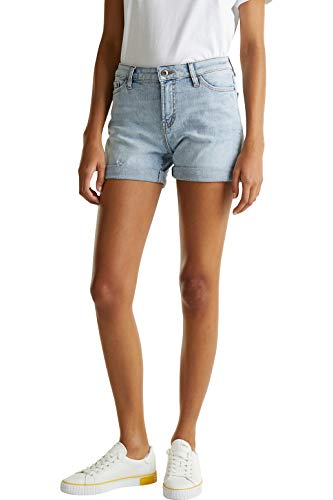 edc by Esprit 030CC1C306 Shorts, Damen, Blau 27 EU