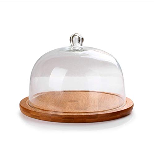 C-J-Xin Chip & Dip Server, Fruit Preservation Cover Gebak Chocolade Dome Party Dessert Proeverij Houten Schijf Glas Stofafdekking Cake Stands