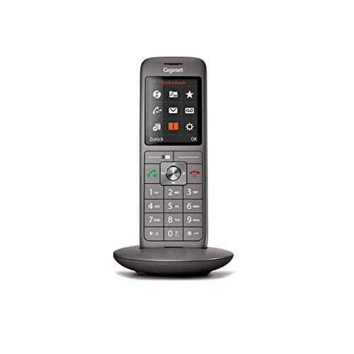 Gigaset CL660 schnurloses Telefon ohne Anrufbeantworter, DECT Telefon, Design Telefon, ein Mobilteil mit TFT-Farbdisplay, großes Adressbuch, anthrazit-metallic