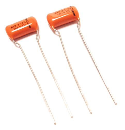 2 NOS USA Sprague .047uf 100v 225P Orange Drop Guitar Tone Capacitors Circle 2