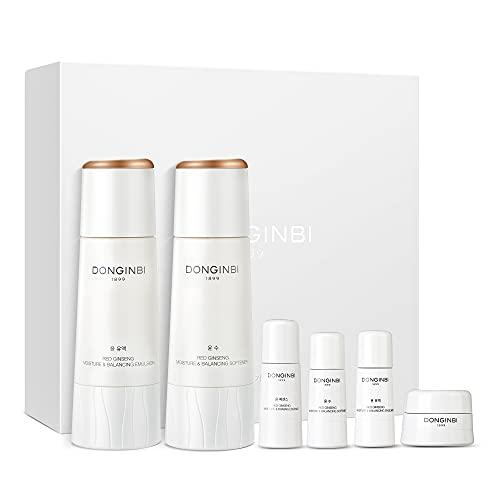 DONGINBI Red Ginseng Korean Skin Care Set, Korean Anti Aging Skin Care Routine Kit for Smooth, Radiant Skin by KGC.