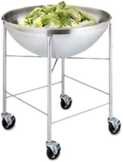Vollrath Bowl Stand/Dolly, mobile, mixing bowl, includes (1) 79800 80 quart mixing bowl, welded stainless steel, NSF, Made in USA, 79818