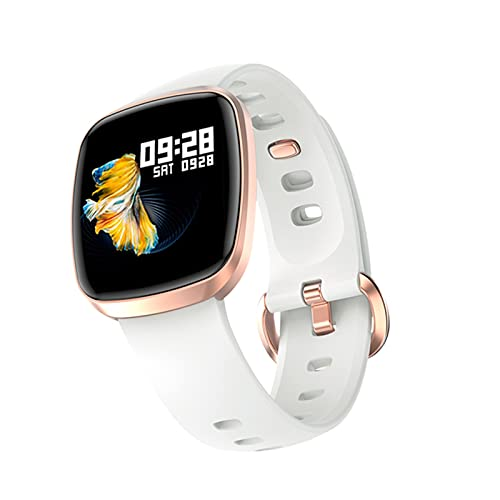 ZYY Smart Watch Men's Full Touch Fitness Tracker Temperatura Corporal Y Presión Arterial Reloj Inteligente Reloj Inteligente con ECG PPG MG-T8,A