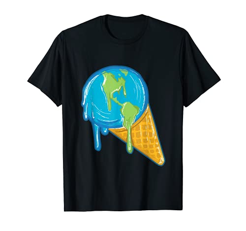 El planeta Tierra se derrite como un helado Camiseta