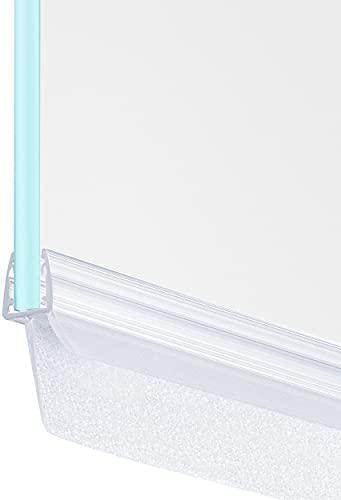 MAALIMA - Duschdichtung 100cm - extra lange Dichtlippe 23mm - Dichtung für 6mm, 7mm, 8mm Glastür - Duschleiste mit Wasserabweiser an der Dichtung, Schwallschutz Abdichtung Leiste - Transparent
