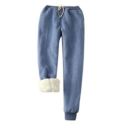 SALUCIA Damen Winter Schlafanzughose Warm Pyjama Hose beiläufige Haushose Thermohose Winterhose Pyjamahose Freizeithosen mit Fleecefutter