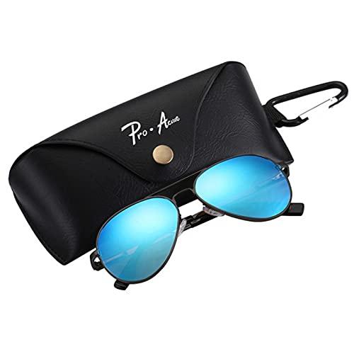 XMYNB Gafas de Sol Gafas De Sol Polarizadas para Niños Y Hombres Pequeños Hombres Mujeres Espejo Lente Gafas De Sol Uv400-Black Blue Box