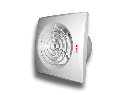 Wandventilator Abluftventilator Badezimmerlüfter Badlüfter Wandlüfter Q System Ø 100, Funktion Nachlaufrelais, Feuchtigkeitssensor