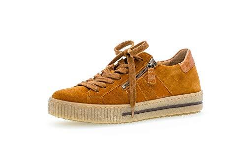 Gabor Damen Sneaker, Frauen Low-Top Sneaker,Best Fitting,Reißverschluss,Optifit- Wechselfußbett, strassenschuh schnürschuh,Cayenne,42.5 EU / 8.5 UK