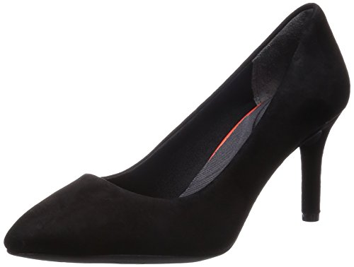 Rockport Damen Total Motion 75mm Pointy Toe Plain Pump Pumps, Schwarz (Black Kid Suede), 36.5 EU