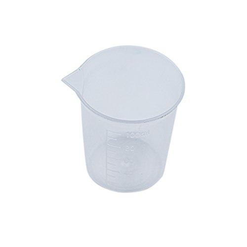 Vaso medidor de plástico transparente con escala resistente al calor para cocina o laboratorio, 100 ml, 1 unidad rentable y duradera