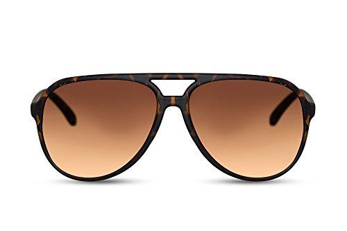 Cheapass Occhiali da Sole Grandi Trendy Occhiali Marroni Montatura Marrone Per Ragazzi e Uomini. UV400 Protetti