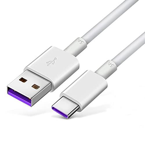3M Câble USB C 3,1 A de charge rapide type C pour Samsung Galaxy A10e A20 A21 A01 A11 A12 A32 A50 A51 A52 A71 S20 S21, Moto Z/G Stylus Power G7 G6, LG V30 K90 2 K51. Stylo 6/5/4.