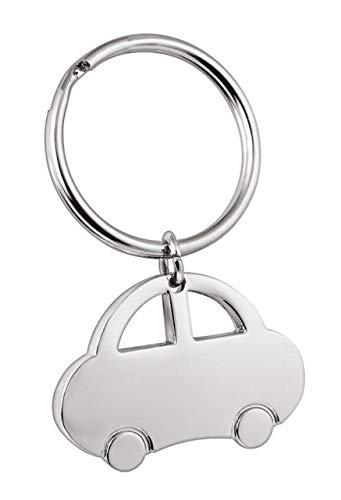 Ten Schlüsselanhänger Auto aus poliertem Metall cod.EL39003 cm 3,6x6x0,4h by Varotto & Co.
