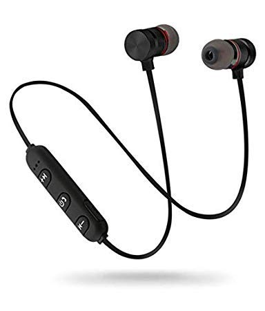 SBA FR – 29082020 |BM – 002 |Magnetic- Bluetooth Earphone| Running/Gyming | Headset | Wireless Headphones | for Mobile – Phone/Sports Stereo/Compatible -with All Devices (BLK)