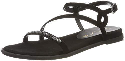 Unisa Women's Ankle Strap Sandals, Black, 8
