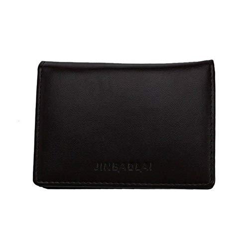 Boner Heren Zakelijke portemonnees PU lederen portemonnee draagbare zwarte handtas voor mannen Bankkaarthouder Pack, bruin