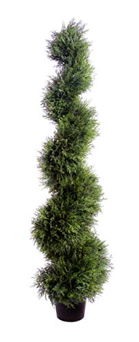 Best Artificial (TM) 120 cm 4 m Cedar spirale topiaire arbre * * * * * * * * * * * * * * * * UV Fade protégé * * * * * * * * * * * * * * * *