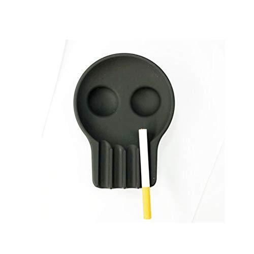CUTE ASH Reative Silikon Aschenbecher,Menschlicher Schädel Design Multi-Farbe Portable Aschenbecher Schönes Geschenk Für Männer Frauen