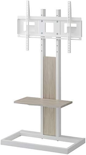 ハヤミ 壁寄せテレビスタンド ~65V型対応 パイプと木を組み合わせたハイブリットデザインKF-260W ホワイト