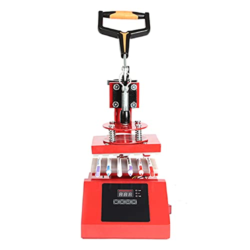 JFF 6PCS Digitaler Kugelschreiber-Heißpressmaschine 3D-Sublimations-Heißpresse-Logo-Transfermaschine Für Den DIY-Stiftdruck