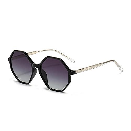 XXBFDT Al-Mg, metal rectangular - Gafas de sol anti-ultravioleta de seis laterales.-C2
