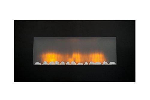 Classic Fire AJ15-S Vancouver - Calefactor de Pared con Efecto Chimenea, Mando a Distancia, 2000 W, Negro, 105,5 cm