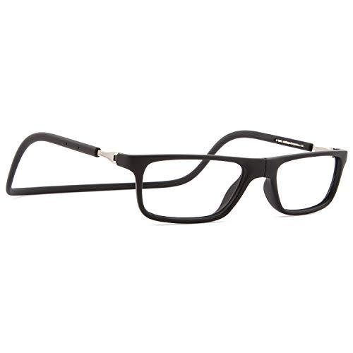DIDINSKY Magnetische Blaulichtfilter Brille für Damen und Herren. Blaufilter Brille für Gaming oder Pc. Gummi-Touch-Tempel und Blendschutzgläser. Graphite +2.5 – FARADAY