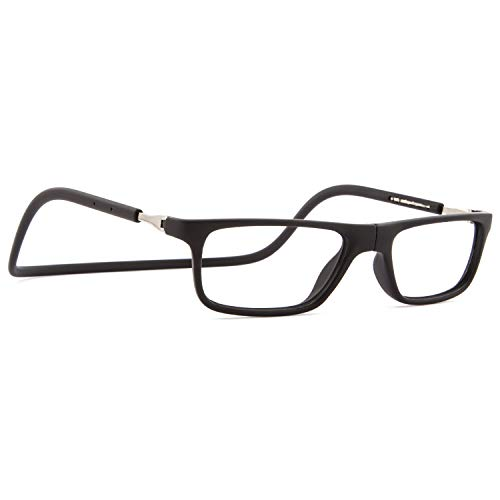DIDINSKY Gafas de Presbicia con Iman y Filtro Anti Luz Azul. Gafas Graduadas Imantadas de Lectura para Hombre y Mujer. Tacto Goma y Cristales Anti-reflejantes. Graphite +2.5 FARADAY