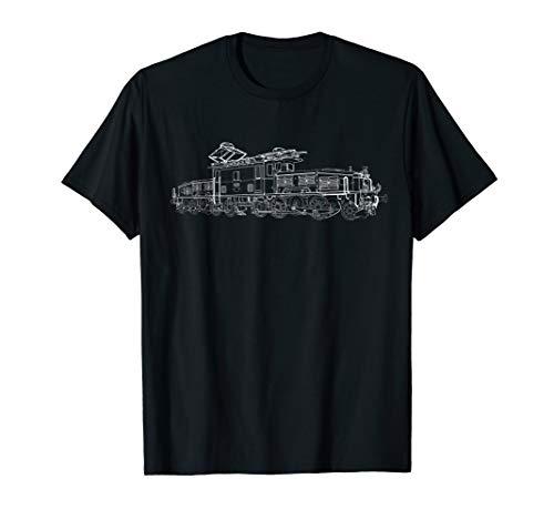 Elektrolok Schweizer Krokodil Geschenk Lok E93 T-Shirt