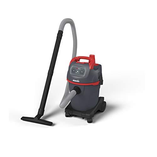 Starmix 16245 Industriebsauger uClean 1432 ST (Nass-und Trockensauger, Ausblasfunktion, Kabellänge 8 Meter, Farbe grau/rot)