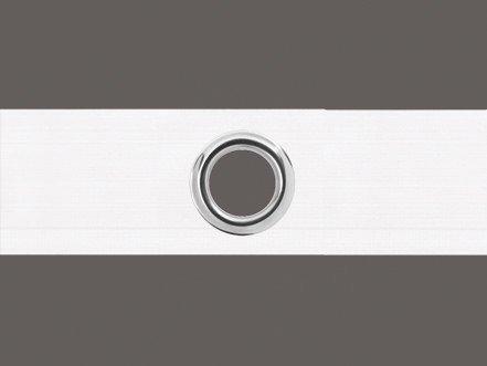 Unbekannt Ösenband 6 cm breit Zugabe variabel, Farbe: weiß