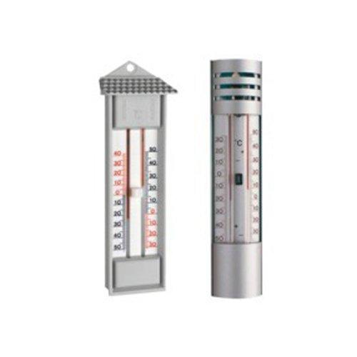 neoLab 2-9817 Maxima-Minima-Thermometer, Alu-Gehäuse, -30 bis +50 Grad C, quecksilberfrei (1-er Pack)