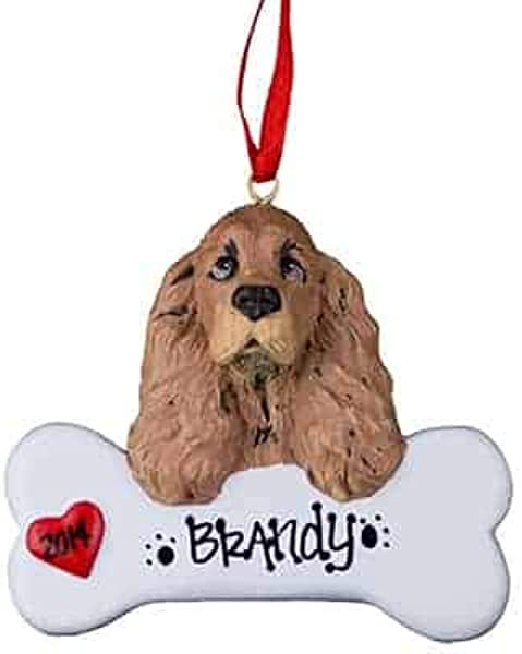 Cocker Spaniel Personalized Ornament Unique Christmas Tree Ornament Classic Decor For A Holiday Party Custom Decorations For Family Kids Baby Military Sports Or Pets