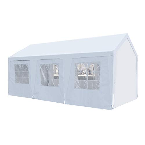 GOJOOASIS Carport Canopy Heavy Duty 10x20 ft Party Tent Portable Car Garage (10' x 20' with Removable Sidewalls)