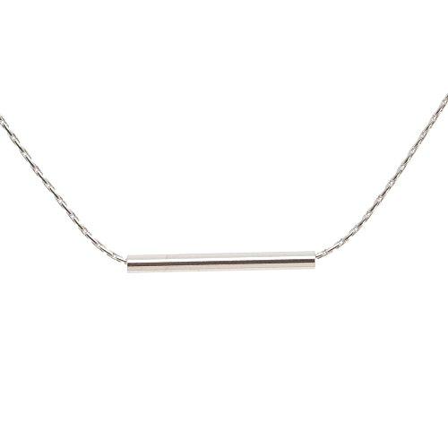 Tom Shot Damen-Halskette mit einem Stift aus Messing versilbert Kettenlänge 40 cm + 6 cm Verlängerung - 87ke0112s