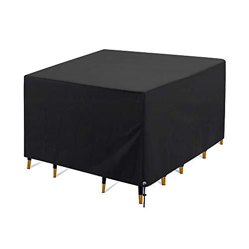 DETHN Fundas De Muebles De Patio Al Aire Libre Tela Oxford 420D Extra Grandes Anti-UV Impermeable A Prueba De Viento Resistente Al Desgarro Dustproof Cubierta Protectora De Muebles 123x123x74cm