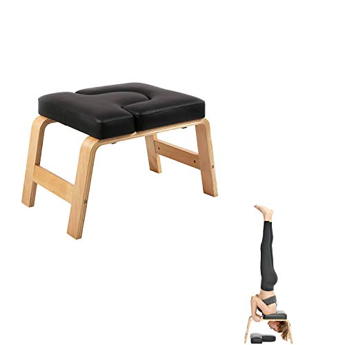 Great Deal! Juup Wooden Headstand Bench Yoga Chair for Practice Head Stand, Shoulderstand, Handstand...