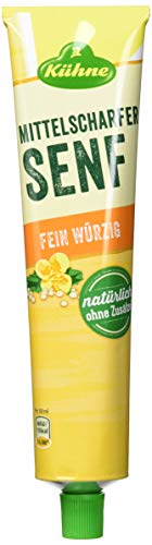 Kühne Senf mittelscharf, 12er Pack (12 x 200 ml)