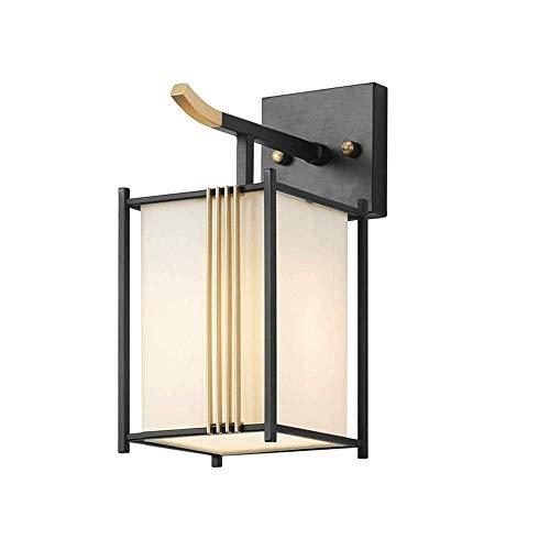 Apliques de metal para lámpara de pared, luces de pared negras chinas modernas con pantalla de tela,accesorio de iluminación para decoración del hogar interior para hotel sala de estar junto a la cama