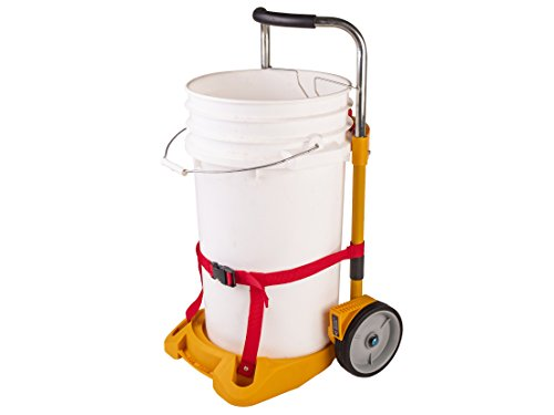 Bucket Buggy Bucket Mover Wheeled Carrier for 5- to 7-gallon Buckets for Gardening, Painting, Salt, Sand, Janitorial, Tool Buckets