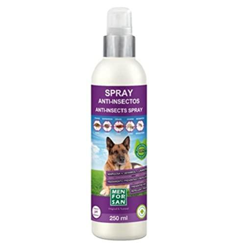 MENFORSAN Spray Anti-insectos Con Margosa, Geraniol Y Lavandino Para Perros | Protege A Tu Mascota De Cualquier Insecto | 250ml, Transparente, Cítrica ⭐