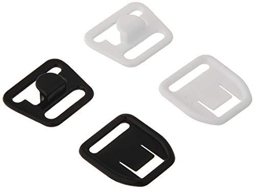 Dritz 56698-12-66 Lot de 4 Clips pour Soutien-Gorge de maternité Blanc et Noir 1,27 cm