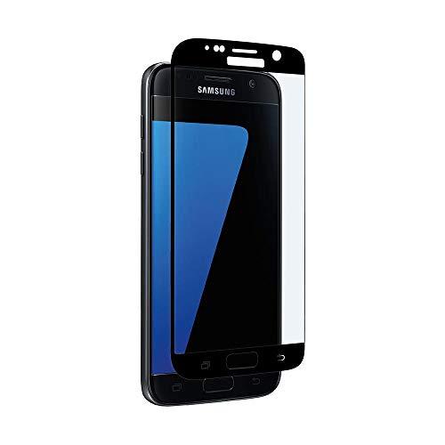 aiino italian ideas - Pellicola Vetro Edge-to-Edge Curved per Samsung Galaxy S7, Resistenza 9H, Vetro temperato Curvo - Black