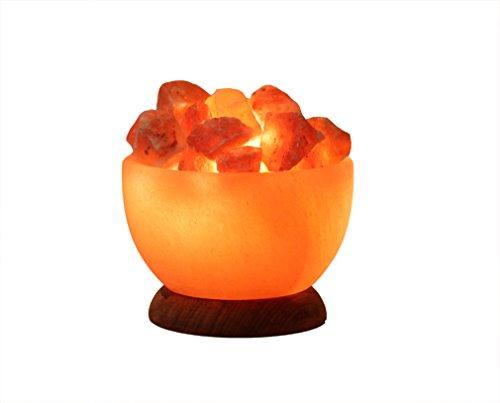 HIMALAYA SALT DREAMS - Beleuchtete Salzkristallschale RUND, inklusive Elektrik und Spezial-Leuchtmittel (E14 - Energieeffizienzklasse E)