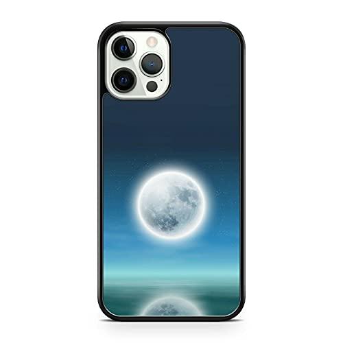 Reluciente Luminoso Elegante Luna Llena Océano Agua Reflejar Paisaje Funda de Teléfono (Teléfono Modelo: Compatible Con Huawei P10 Ligero)
