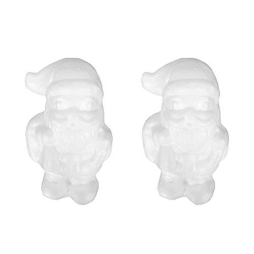 VALICLUD 10 Pz Natale Polistirolo Forme Artigianato Babbo Natale Figure Modellazione Polistirolo Natale Schiuma Palline Cake Topper per Fai da Te Pittura Artigianale Regalo Festa Forniture